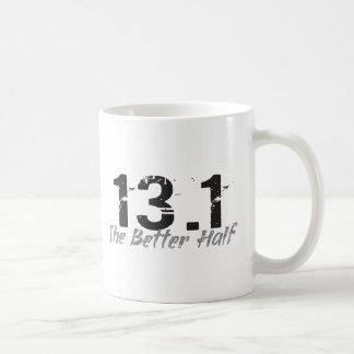 13.1 The Better Half - Half Marathon Runner Basic White Mug