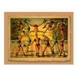 13 Acrobats Old Circus Poster on Tshirts Post Card