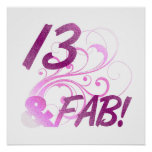 13 And Fabulous Birthday Poster