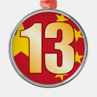 13 CHINA Gold Christmas Ornament