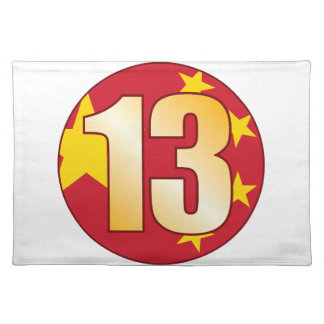 13 CHINA Gold Placemat