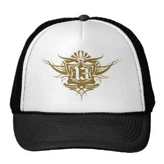 13 Gothic Tattoo number gold Cap