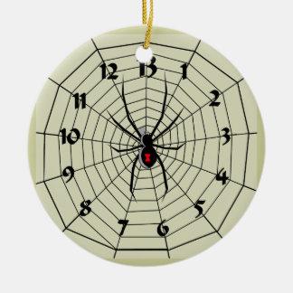 13 Hour Spider Web Clock Ornament! Customize me! Christmas Ornament