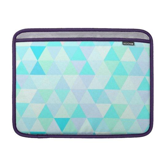 13 inch Blue Geometric Triangles Sleeve For MacBook