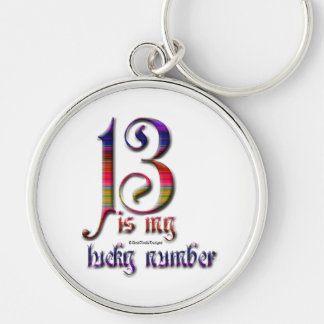 13 is my Lucky Number-Color Key Ring