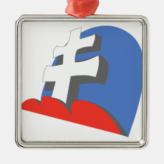 13 JG52 Slovakian Silver-Colored Square Decoration