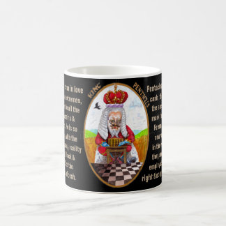 13. King of Pentacles - Alice Tarot Coffee Mug