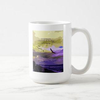 13 Mug - Original Art & Haiku - ocean waves