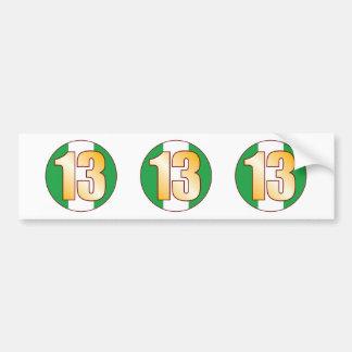 13 NIGERIA Gold Bumper Sticker