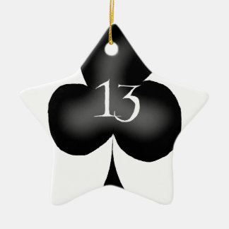 13 of clubs ceramic star decoration