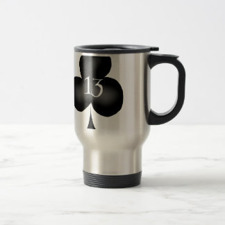 13 of clubs travel mug