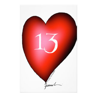 13 of Hearts Stationery