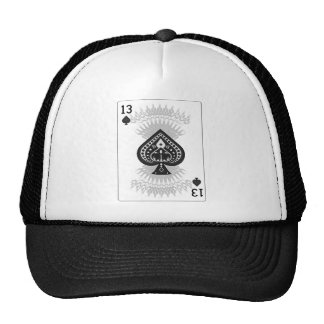 13 of Spades: Fictional Playing Card: Trucker Hat