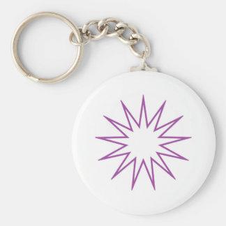 13 Pointed Star purple Keychains