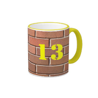 13 (stencilled) ringer mug