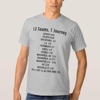 13 Teams 1 Journey fan shirt
