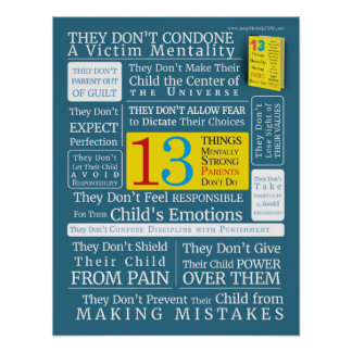 13 Things Mentally Strong Parents Don't Do Poster