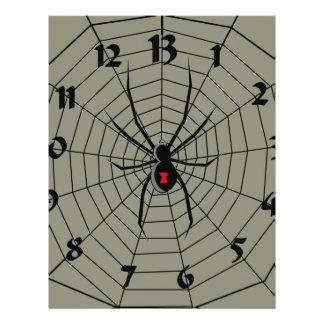 13 Thirteen Hour Spider Clock Personalized Flyer