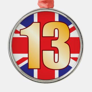 13 UK Gold Christmas Ornament