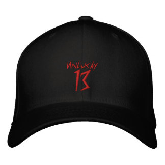 #13 Unlucky DarkArt Embroidered Flexfit Hat v2 Embroidered Cap