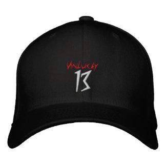 #13 Unlucky DarkArt Embroidered Flexfit Hat v3 Embroidered Hats