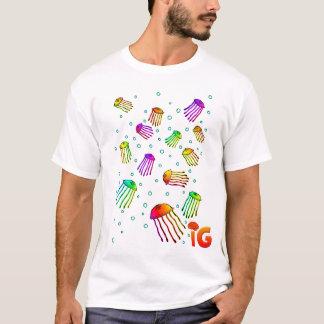 13 Vibrant Jellyfish - Mens (White) T-Shirt