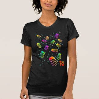 13 Vibrant Jellyfish - Womens (Black) T-Shirt