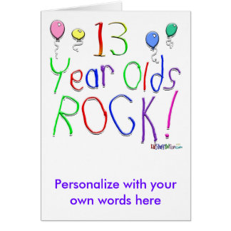 13 Year Olds Rock Greeting Cards