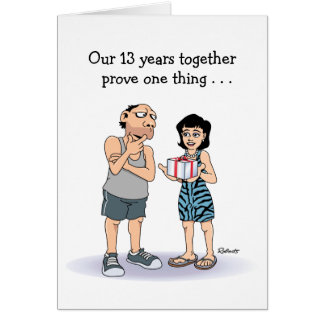 13th Anniversary Card: Lucky Guy Greeting Card