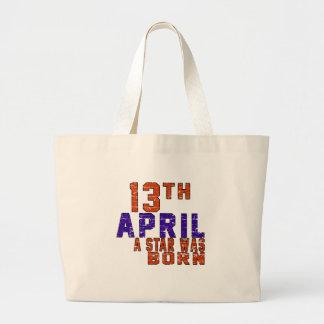 13th April a star was born Canvas Bag