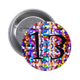 13th Birthday Bright and Colourful 6 Cm Round Badge
