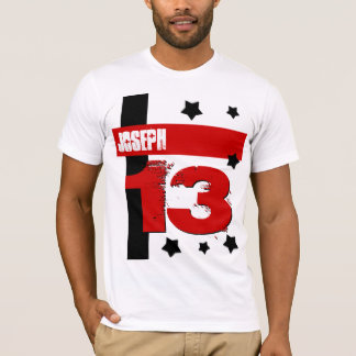 13th Birthday Custom Name RED WHITE BLACK V5 T-Shirt