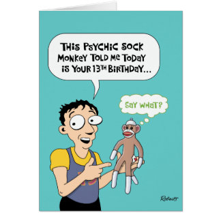 13th Birthday Funny Greeting Card