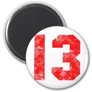 13th Birthday Gifts Fridge Magnet