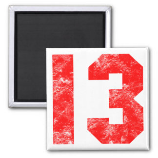 13th Birthday Gifts Square Magnet