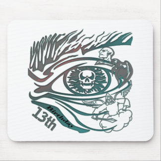 13th Birthday Gifts Warrior Skull Mousepad