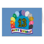 13th Birthday Gifts with Assorted Balloons Design