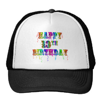 13th Birthday Gifts with Circus Balloon Font Trucker Hat