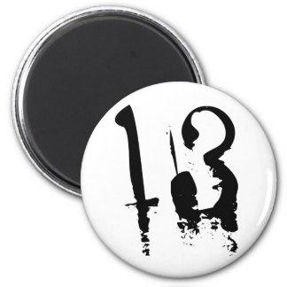 13th Birthday Fridge Magnet