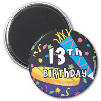 13th Birthday Refrigerator Magnets