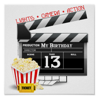 13th Birthday Movie Party Poster