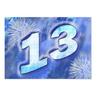 13th birthday party card