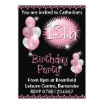 13th Birthday Party Invitation 13 Cm X 18 Cm Invitation Card