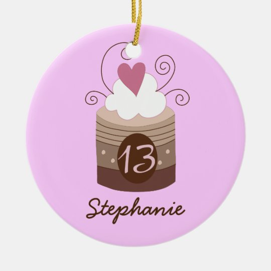13th Birthday Personalised Gift Ornament