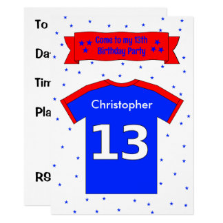 13th birthday personalized party invitation