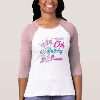 13th Birthday Princess Tee Shirt
