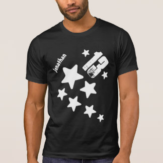 13th Birthday Stars and Hearts Teen V17 BLACK Tee Shirt
