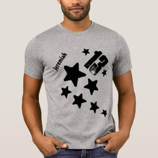 13th Birthday Stars and Hearts Teen V18 GRAY Tshirts
