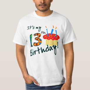13th Birthday Party T Shirts Shirt Designs