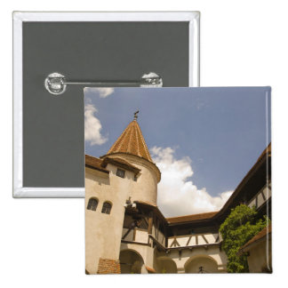 13th Century Bran Castle (Draculas' Castle), 15 Cm Square Badge